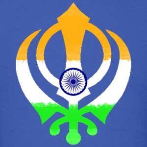 Indian Flag Khanda (Sikhism) T-Shirts - Men's T-Shirt