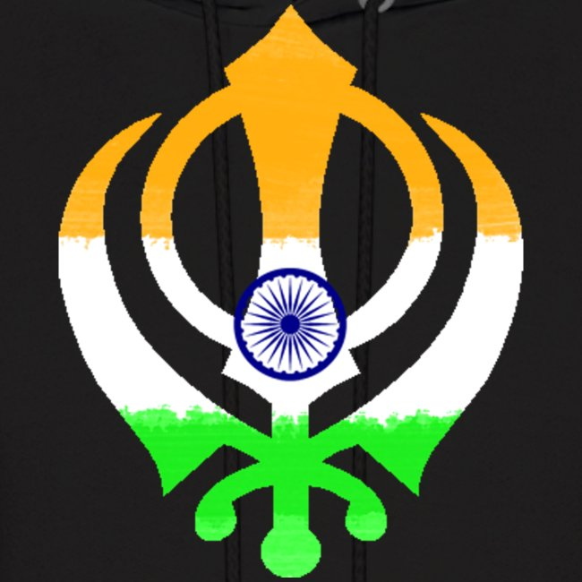 Sikhthreads Khanda Indian Flag Sweatshirt Mens Hoodie