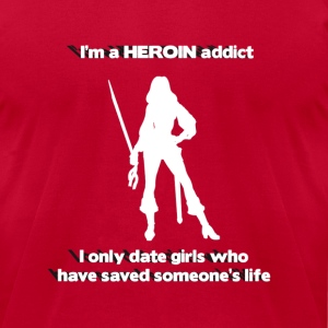 Heroin Addict - Men's T-Shirt by American Apparel