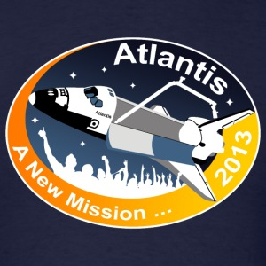 Atlantis' New Mission T-Shirts - Men's T-Shirt