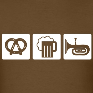 oktoberfest: pretzel + beer + folk music T-Shirts - Men's T-Shirt