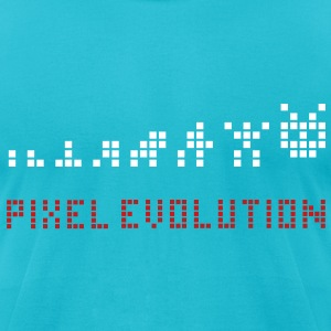 Pixel Evolution T-Shirts - Men's T-Shirt by American Apparel