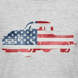 USA Flag American Truck Long Sleeve Shirts - Women's Long Sleeve Jersey T-Shirt