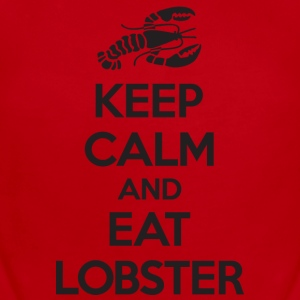 Keep Calm and Eat Lobster Black Baby & Toddler Shirts - Short Sleeve Baby Bodysuit