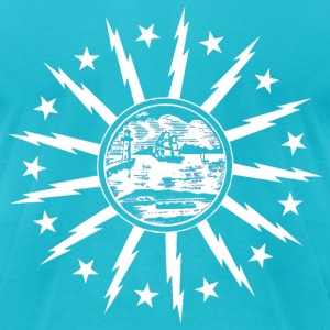 Buffalo Flag T-Shirts - Men's T-Shirt by American Apparel