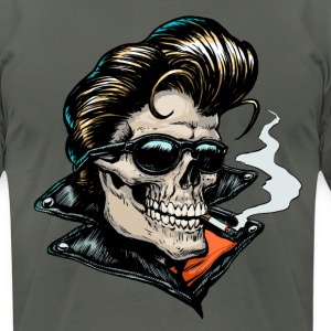 Rockabilly Skull T-shirt - Men's T-Shirt by American Apparel