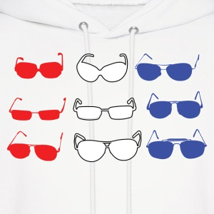 Red White and Blue Sunglasses Hoodies - Men's Hoodie