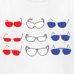 Red White and Blue Sunglasses Kids' Shirts - Kids' T-Shirt