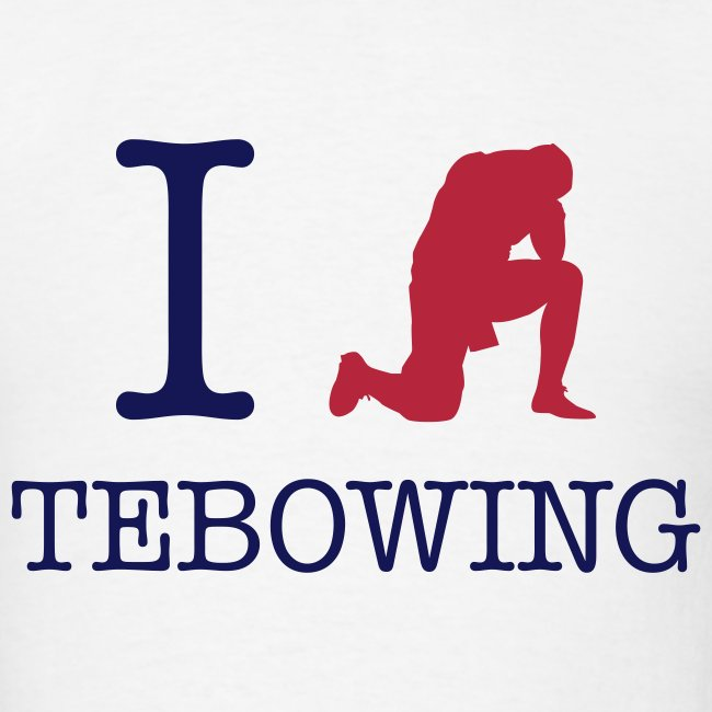 I (Tebowing) Tebowing (White) T-Shirt