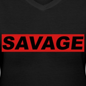 savage Women's T-Shirts - Women's V-Neck T-Shirt