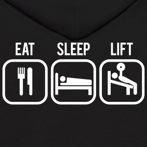 Eat, Sleep, Lift - Gym Motivation Hoodies - Men's Hoodie