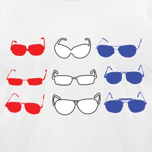 Red White and Blue Sunglasses T-Shirts - Men's T-Shirt by American Apparel
