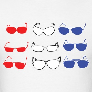 Red White and Blue Sunglasses T-Shirts - Men's T-Shirt