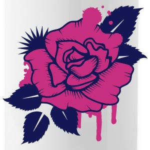 A Graffiti Rose Bottles & Mugs - Water Bottle
