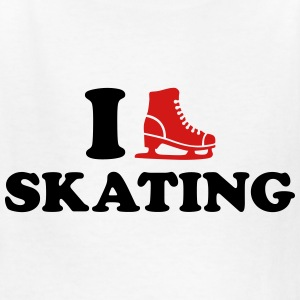 I love Skating Kids' Shirts - Kids' T-Shirt