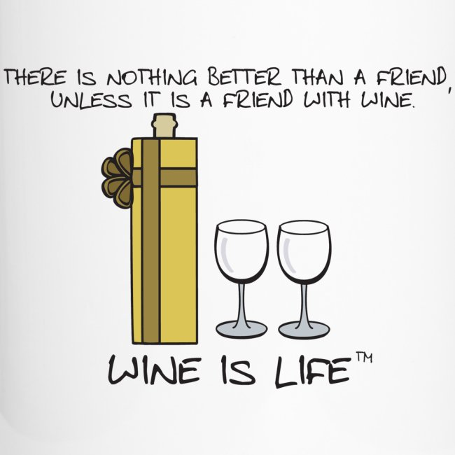 Friend With Wine - Travel Mug