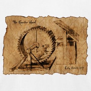 Leonardo da Vinci Hamster Wheel T-Shirts - Men's T-Shirt by American Apparel