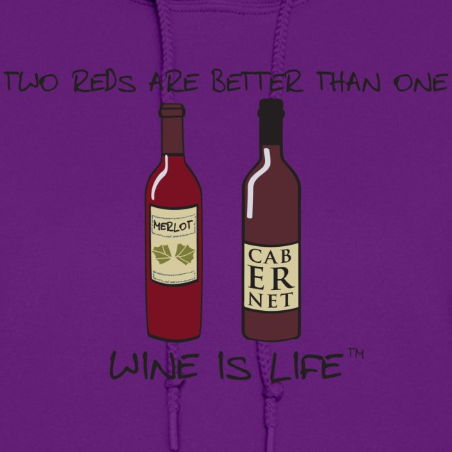 Two Reds - Womens Hooded Sweatshirt