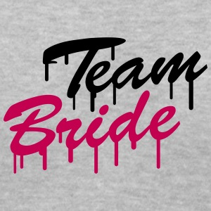Team Bride Graffiti Women's T-Shirts - Women's V-Neck T-Shirt
