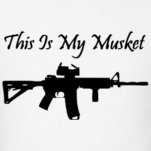 Men's White This is my Musket AR15 Shirt - Men's T-Shirt