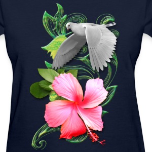 Dove Floral Hover - Women's T-Shirt