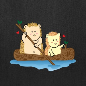 cute hedgehog couple on boat Bags & backpacks - Tote Bag
