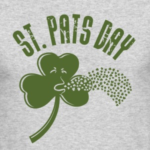 Puking Shamrock (white) - Men's Long Sleeve T-Shirt by Next Level