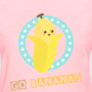 kawaii banana with stars Women's T-Shirts - Women's T-Shirt