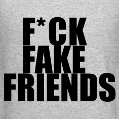 Fuck fake friends Long Sleeve Shirts
