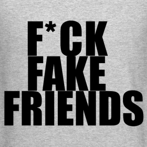 Fuck fake friends Long Sleeve Shirts - Crewneck Sweatshirt