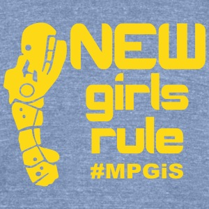 Most Popular Girls New Girls Rule T-Shirts - Unisex Tri-Blend T-Shirt by American Apparel