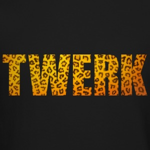 TWERK leopard Long Sleeve Shirts - Crewneck Sweatshirt