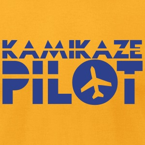 kamikaze pilot with a jet plane T-Shirts - Men's T-Shirt by American Apparel
