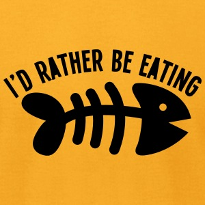 I'd rather be eating FIS (bones) funny cat design T-Shirts - Men's T-Shirt by American Apparel