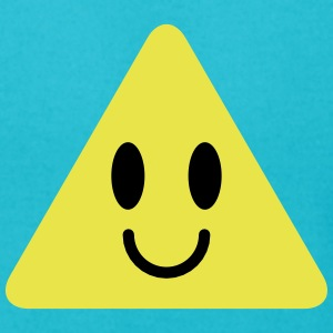 cute triangle smiley with happy face T-Shirts - Men's T-Shirt by American Apparel