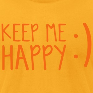keep me happy :) with emoticon happy face T-Shirts - Men's T-Shirt by American Apparel