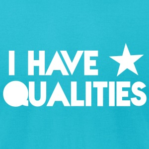 I HAVE STAR stars QUALITIES! in pink T-Shirts - Men's T-Shirt by American Apparel
