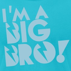 I'm a BIG BRO! brother in funky cool solid T-Shirts