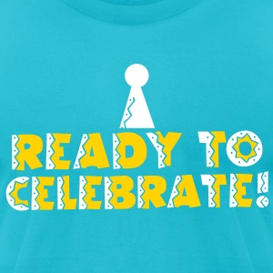 READY to celebrate with symbol of party hat T-Shirts - Men's T-Shirt by American Apparel
