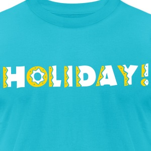 HOLIDAY in celebration type super cute! T-Shirts - Men's T-Shirt by American Apparel