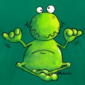 Ohmmm frog- meditation - yoga  T-Shirts - Men's T-Shirt by American Apparel