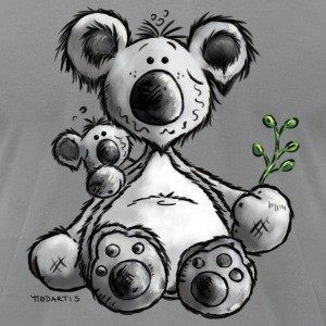 Koala- Bear - Australia - Cartoon T-Shirts - Men's T-Shirt by American Apparel