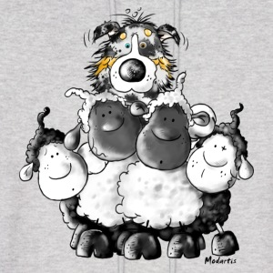 Australian Shepherd and sheep - Dog Hoodies - Men's Hoodie