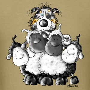 Australian Shepherd and sheep - Dog T-Shirts - Men's T-Shirt