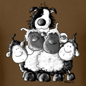 Border Collie and sheep - dog  T-Shirts - Men's T-Shirt
