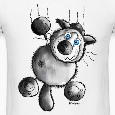 Crazy Cat Cartoon- t-shirt - Siamese Cat T-Shirts