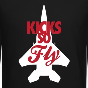 Kicks so fly Long Sleeve Shirts - Crewneck Sweatshirt