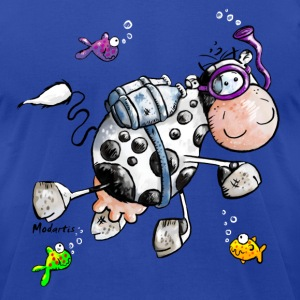 Diving Cow Cartoon Shirt T-Shirts - Men's T-Shirt by American Apparel
