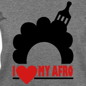 I Love My Afro Long Sleeve Shirts - Women's Wideneck Sweatshirt