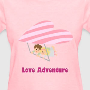 couple flying on heart shape hang glider Women's T-Shirts - Women's T-Shirt